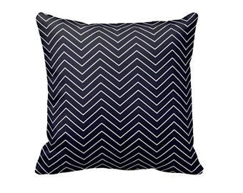 Decorative Pillow Cover Chevron Pillow Cover Navy Blue Pillow Navy Pillow Decorative Pillow for Couch Throw Pillow Cover Accent Pillows