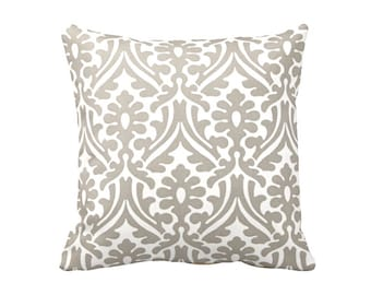 Beige Throw Pillow Cover Taupe Pillow Covers Damask Pillows Beige Pillows Decorative Pillows for Couch 20x20 Pillow Cover 16x16 Pillow Cover