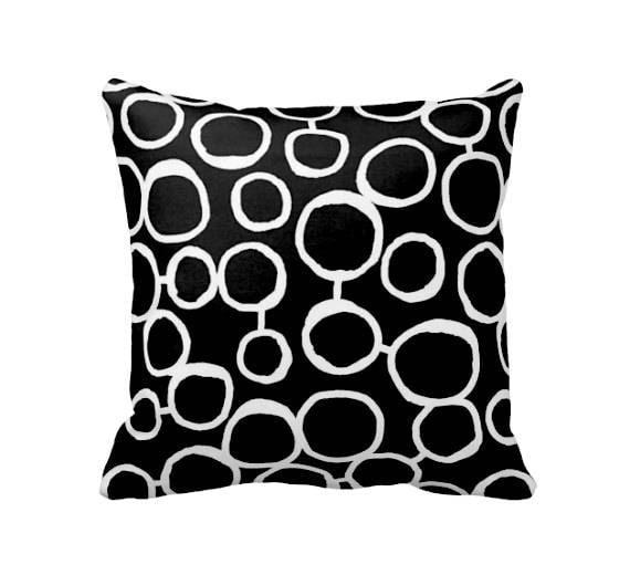 Black Throw Pillow Cover Black Pillow Cover Cushion Covers Etsy Beauteous Throw Pillow Covers Etsy