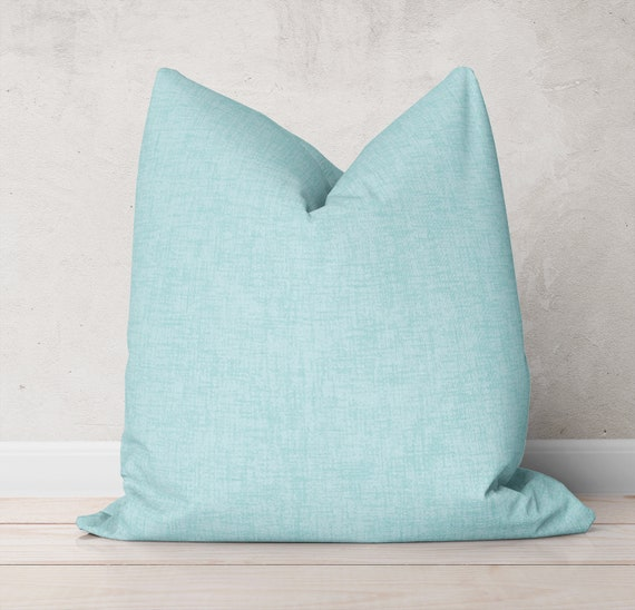 Enjoyable Light Blue Pillow Cover Solid Blue Pillows Blue Throw Pillows Sofa Decorative Pillows For Couch Blue Accent Pillows Euro Pillow 20X20 Pillow Inzonedesignstudio Interior Chair Design Inzonedesignstudiocom