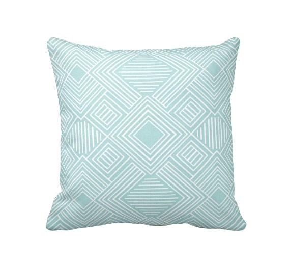 Blue Throw Pillow Cover Light Blue Pillow Covers Decorative Etsy Classy Light Blue Decorative Throw Pillows