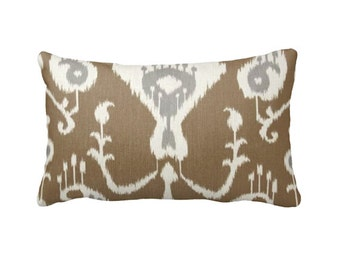 7 Sizes Available: Tan Throw Pillow Cover Ikat Pillow Cover Tan Pillow Covers Southwestern Pillow Tan Cushion Cover Tan Sofa Pillows