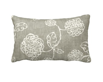 Taupe Throw Pillow Cover Taupe Pillow Cover Taupe Floral Pillows Decorative Pillows for Bed Cushion Covers Taupe Sofa Pillows Toss Pillows