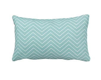 Blue Throw Pillow Covers Light Blue Pillow Covers Decorative Pillows for Bed Lumbar Pillows Chevron Pillows 12x20 Pillow Cover 12x24 Pillows