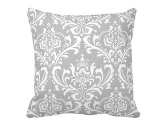 11 Available Sizes: Euro Pillow Cover Throw Pillow Decorative Pillow Grey Pillow Gray Pillow Damask Pillow Sofa Pillow Grey Home Decor