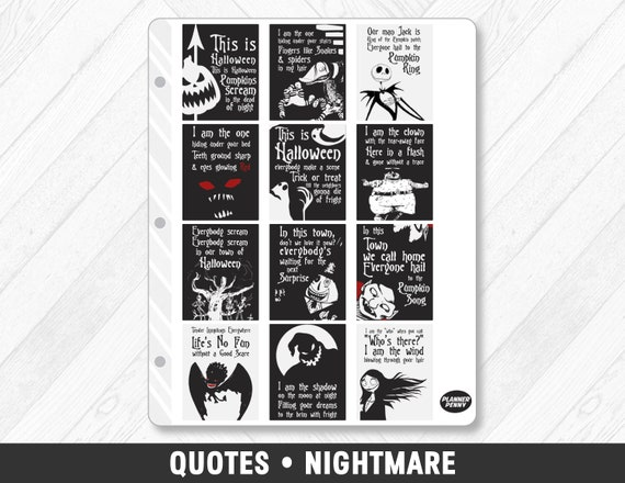 image 0 - Nightmare Before Christmas Quotes