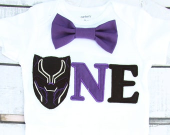 Baby Boy First birthday Black Panther Marvel Super Hero Bow tie Boy Cake Smash Boy first year outfit, Boy number 1, Boy birthday, Boy Second