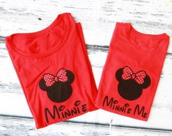 Minnie and Minnie Me Disney Custom shirt Disney Trip shirt Matching Disney family shirts Mommy and Me Disney Shirts  Mickey and Minnie Shirt