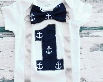 Nautical Anchor Theme, Boy Cake Smash, Boy first year outfit, Boy number 1, Boy first birthday, Boy Sailing