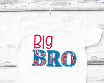 Big Brother Chicago Cubs shirt Big Bro Chicago Cubs t-shirt Baby Baseball family shirts baby boy first birthday Big Bro add parents shirts