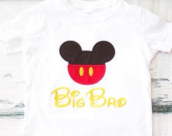 Mickey Mouse Big Bro Mickey Mouse big Bro shirt Disneyland add  matching shirts Parents shirts Mommy and Daddy Mickey Minnie Shirts