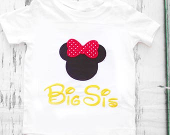 Minnie Big Sister Minnie Mouse big sis shirt add  matching shirts Parents shirts Mommy and Daddy Mickey Minnie Shirts