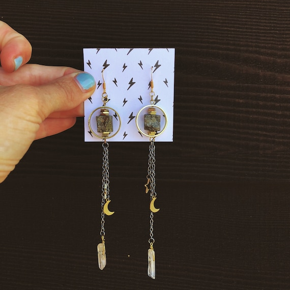 The Falling Star Pyrite Earrings