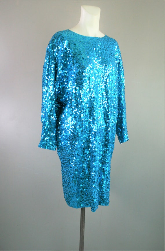 Ornamental - Sequins on Silk - Cocktail Dress - by