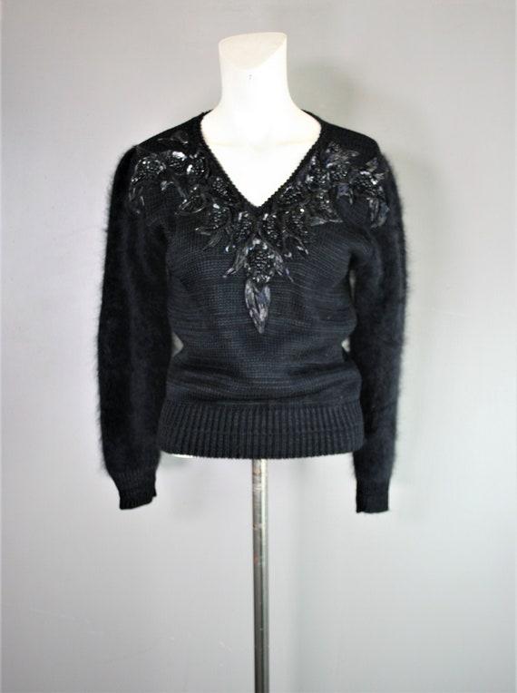 Circa 1980-90s - Puff Sleeve - Angora Sweater - fo