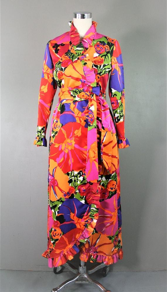 Hot Tropics - 1970s Vibrant - Wrap Dress - Concept