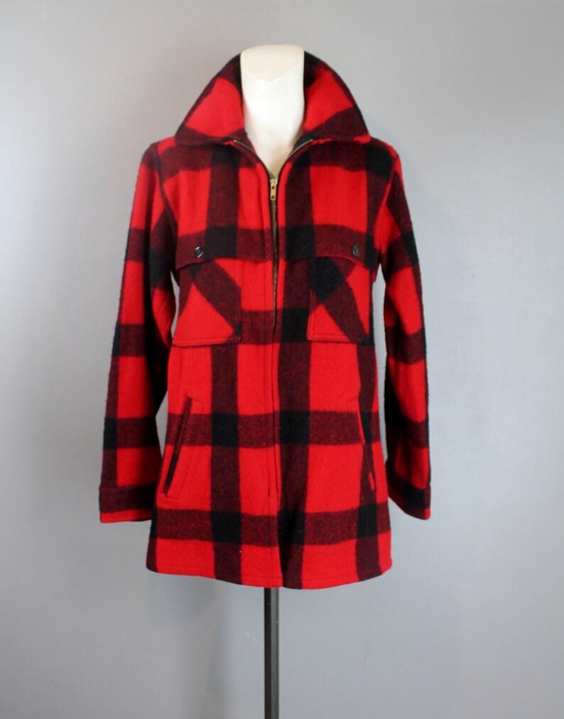 9deb83fb4d724 1950 Johnson Woolen Mills Mackinaw Jacke Wolle Buffalo