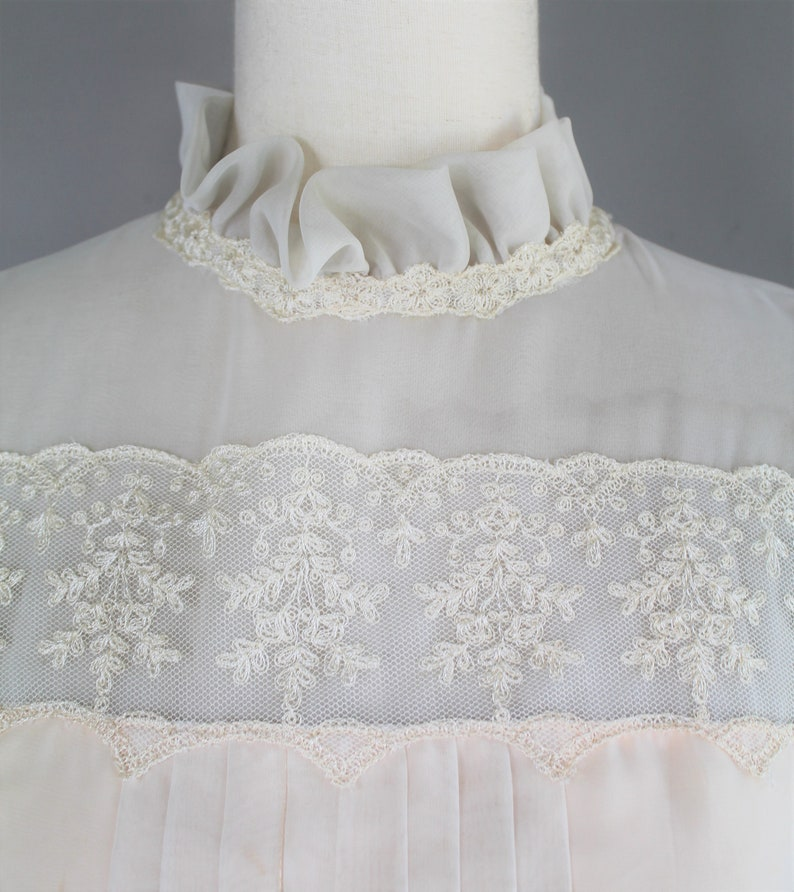 Ivory over blush Blushing Bride Circa 1970-80s Sweet and Simple