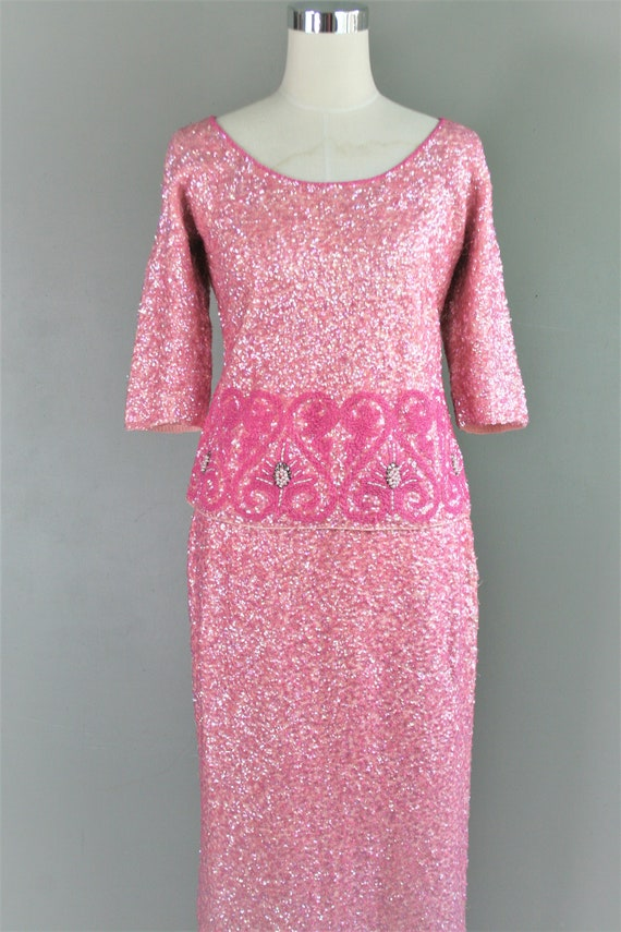 Gene Shelly - 2 Piece - 1960-70 - Cocktail Gown -