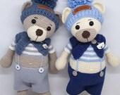 Crochet, Pattern, Patron, Tutorial, Amigurumi, NOUNOURS (French and English)