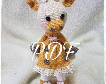 Giraffe Amigurumi Häkelanleitung von Little Bear Crochets   270x340