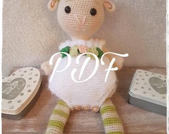 PDF pattern crochet sheep in romper