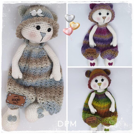 Free Amigurumi Bear Toy Softies Crochet Patterns | Tutoriel poupée ... | 570x570