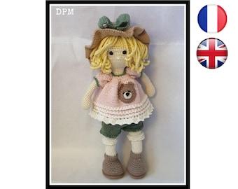 Eva-Doll-Amigurumi/Crochet Pattern-English-English Version-PDF-Email Delivery