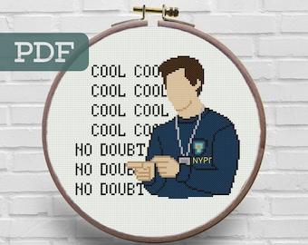 Brooklyn 99 Cross Stitch Pattern - Jake Peralta Cross Stitch Pattern - Tv Shows Cross Stitch Pattern - Brooklyn Nine nine Cross Stitch