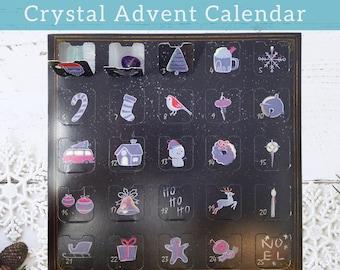 Crystal Advent Calendar, Gemstone Christmas Countdown Calendar, Advent Box Christmas Calendar, Christmas Advent Rock Mineral & Gemstone Gift
