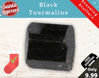 Stocking Stuffers | Black Tourmaline is Better than Coal | Natural Stone Crystal Christmas Gift For a Mineral Gemstone & Rock Collection