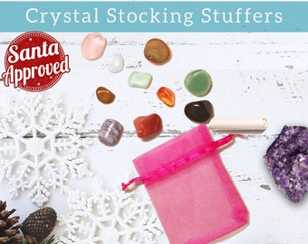 Stocking Stuffers | Rock Collection Gift for Kids Teens & Adults | Inexpensive Unique Gifts, Crystal Mineral Gemstone Christmas Present Gift