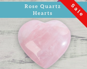 Rose Quartz Heart natural stone crystal specimen for your mineral gemstone & rock collection, healing crystal grid or boho decor