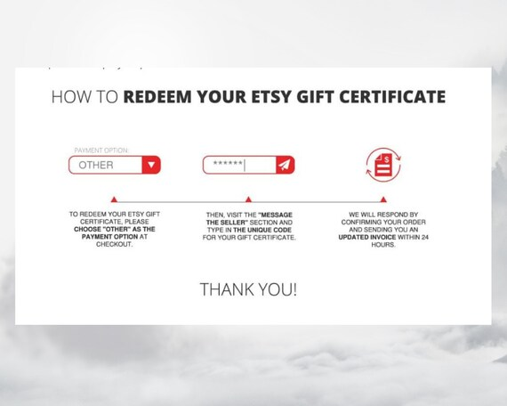 Gift Certificate For 250 Dollars To Spend In Our Etsy Shop Gem Snow Printable Gift Cards That Make The Perfect Last Minute Gift