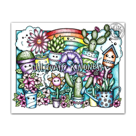 Coloring Page For Adults Download Kawaii Art Coloring Page