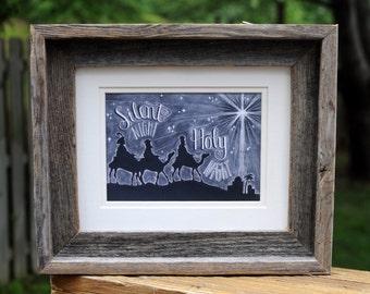 Christmas Decor, Christmas Art, Three Wise Men, Wise Men, 3 Wise Men, Christmas Sign, Chalkboard Art, Chalk Art, Chalkboard Sign, Star
