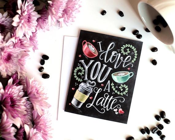 USDR 78\u201d Love You a Latte Black Coffee Latte