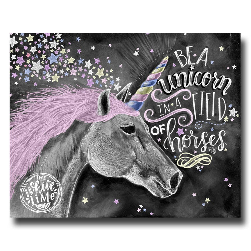 It's just a picture of Unusual Be a Unicorn in a Field of Horses Free Printable