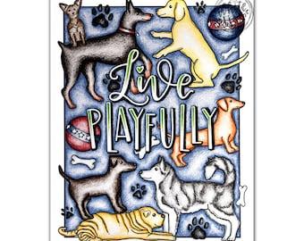 Cute Dog Coloring Page Download, Kawaii Coloring Page, Coloring Pages For Kids Dog, Kawaii Dog Coloring Page, Kawaii Art Print