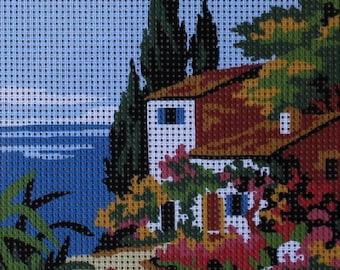Cross Stitch Kits Embroidery Needlework Set Seaside scenery summer town NCMS092