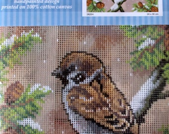 Bird, Sparrow, canvas only, ref 2820