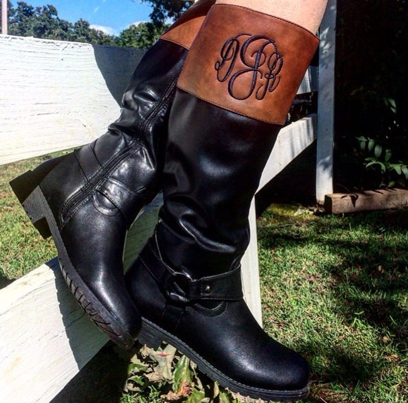Beautiful Monogrammed Boots Riding Boots  Seasons Best  Must image 0