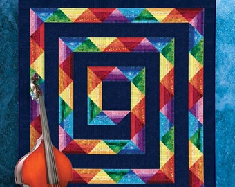 Quilt Pattern - G-String_ size:78 in. x 90 in. -  PDF Download