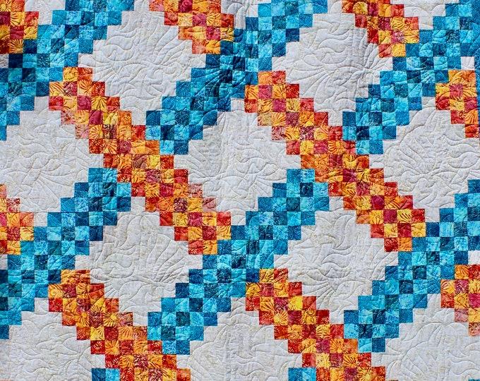 Irish Chain Quilt Pattern - Braided Triple Irish Chain - Multiple sizes - PRINTED