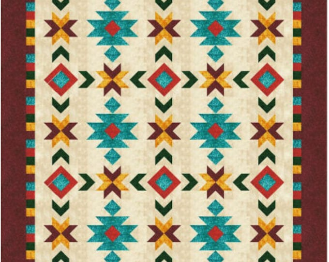 Southwest Inspired - Full/Queen size quilt pattern - 76 in. x 100 in.