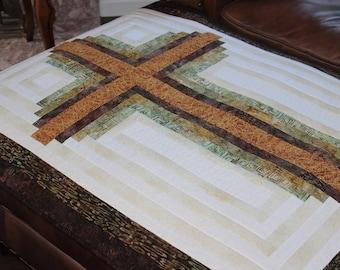 Log Cabin Cross / Christian Cross - pattern in 3 sizes - PDF Download