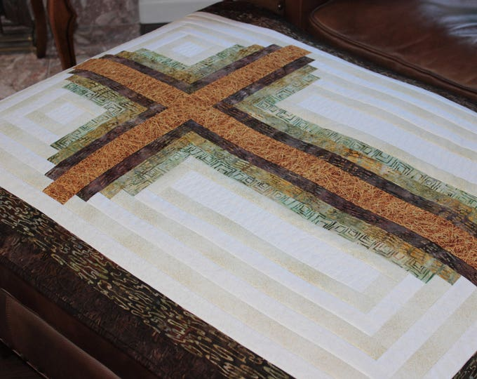 Log Cabin Cross / Christian Cross - pattern in 3 sizes - PDF Download