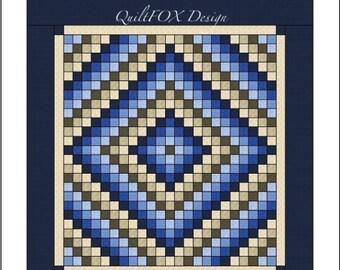 Quilt Pattern -  Trip Around the World - Queen size - PDF pattern