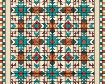 Southwest Quilt Pattern Native American American Indian Etsy