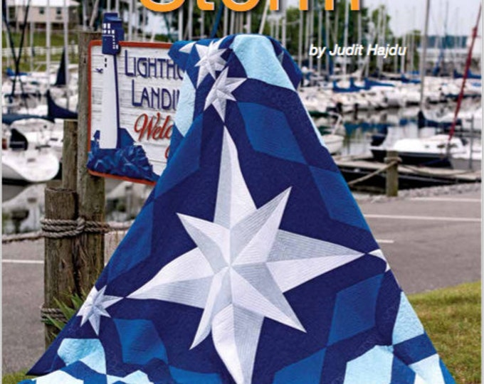 "Compass Quilt pattern - Peace After the Storm - king size: 104"" x 104"" , PDF Download"